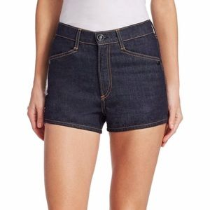 RAG & BONE ELLIE SHORTS DARK WASH SNAP SZ 29